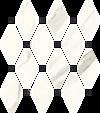 Paradyż Calacatta Mozaika Cięta Mix Poler