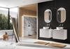 Duża łazienka z oknem w nowoczesnym stylu