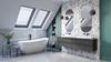 Aranżacja rodzinnej łazienki pod skosami