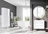 Eklektyczna łazienka w szarościach i bieli
