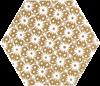 Paradyż Shiny Lines Gold Heksagon Inserto D
