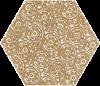 Paradyż Shiny Lines Gold Heksagon Inserto F