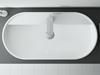 Umywalka nablatowa white 81,5x13,5x41,5 cm Elita Babette