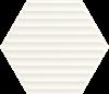 Paradyż Woodskin Bianco Heksagon Struktura B Ściana