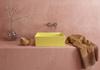 Żółta umywalka nablatowa Bocchi Milano