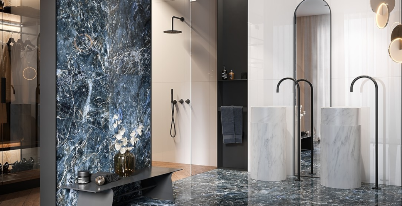 Granatowa łazienka - przegląd kolekcji