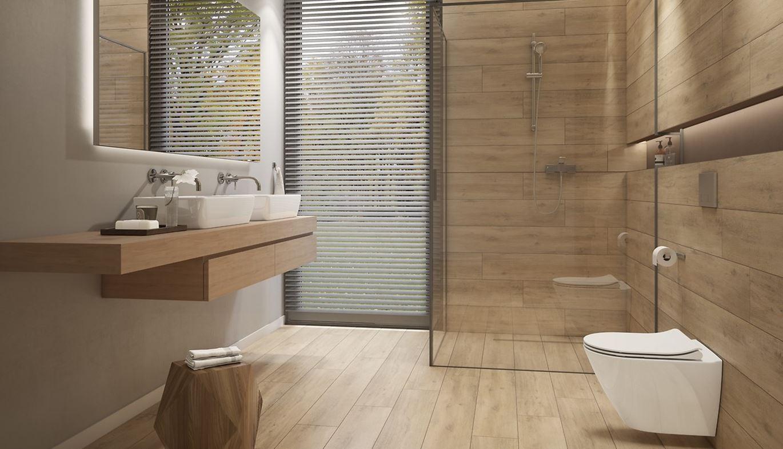 łazienka W Kolorze Drewna Domnipl