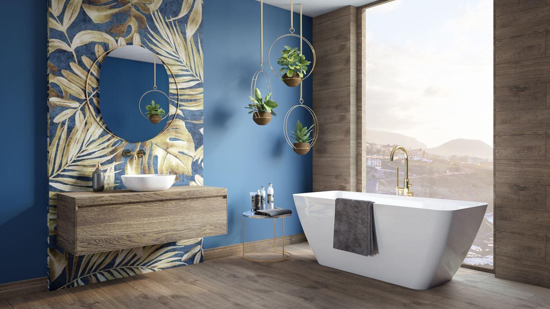 Łazienka w kolorze Classic Blue