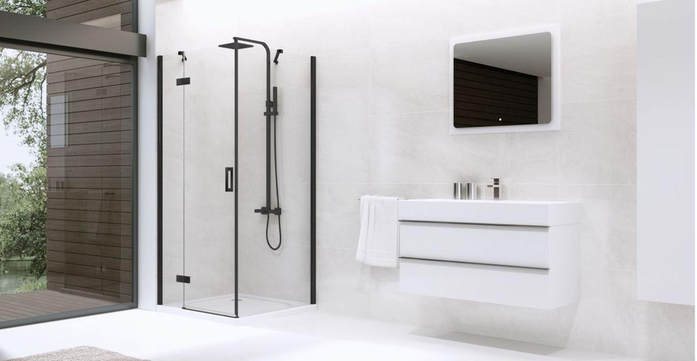 Łazienka z modną czernią w trzech stylach