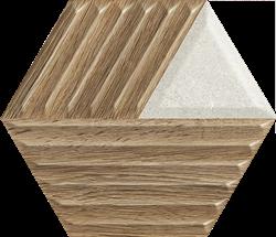 Paradyż Woodskin Mix Heksagon Struktura C Ściana