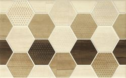 Cersanit Mosa cream inserto geo cubes WD399-008