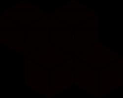 Paradyż Uniwersalna Mozaika Prasowana Nero Paradyż Romb Hexagon