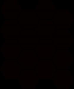Paradyż Uniwersalna Mozaika Prasowana Nero Paradyż Hexagon