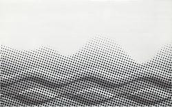 Cersanit Negra white inserto waves WD400-005