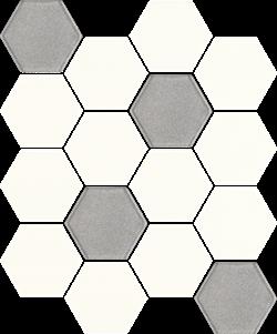 Paradyż Uniwersalna Mozaika Prasowana Bianco Paradyż Hexagon Mix