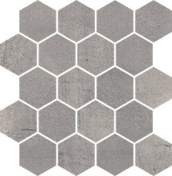 Paradyż Space Grafit Mozaika Cięta Hexagon Mat.