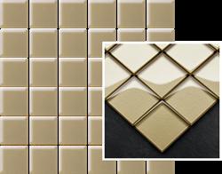 Paradyż Uniwersalna Mozaika Szklana Beige K.4,8X4,8