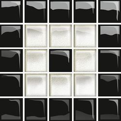 Opoczno Glass White/Black Mosaic C New OD660-118