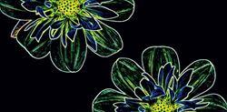 Opoczno Fluorescent Flower Green Inserto OD386-003