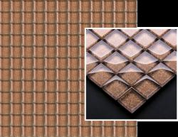Paradyż Uniwersalna Mozaika Szklana Brown Brokat