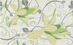 Cersanit Artiga light green inserto flower OD032-074
