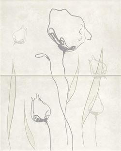 Cersanit Regna white inserto floral WD354-006