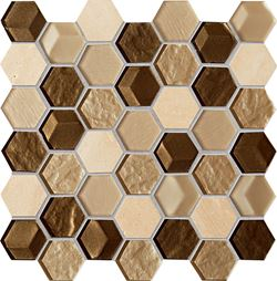 Tubądzin Elements Drops Stone Brown Hex