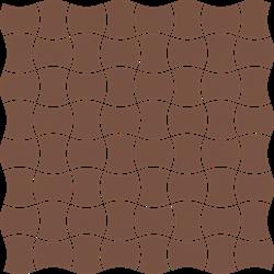 Paradyż Modernizm Brown Mozaika Prasowana K.3,6X4,4