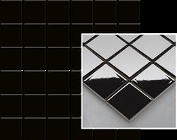 Paradyż Altea Nero Mozaika Prasowana K.4,8X4,8