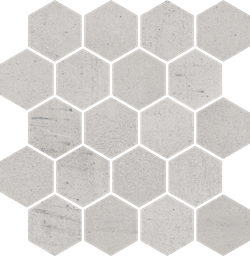 Paradyż Space Grys Mozaika Cięta Hexagon Mat.