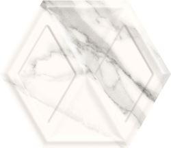 Paradyż Morning Bianco Heksagon Struktura Połysk