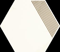 Paradyż Calacatta Hexagon Mat. B
