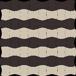 Paradyż Modernizm Nero Mozaika Prasowana K.3,6X4,4 Mix B