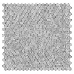 Dunin Metallic Allumi Silver Hexagon 14
