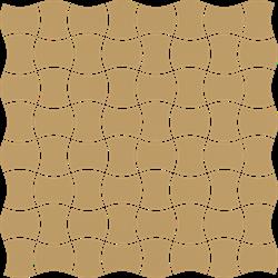 Paradyż Modernizm Ochra Mozaika Prasowana K.3,6X4,4
