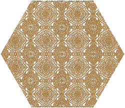 Paradyż Shiny Lines Gold Heksagon Inserto E