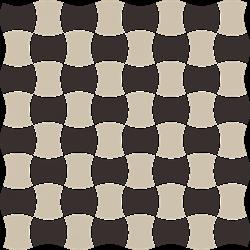 Paradyż Modernizm Nero Mozaika Prasowana K.3,6X4,4 Mix C