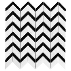 Dunin Black&White Pure White Chevron mix