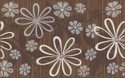 Cersanit Euforia brown inserto flower 1 WD137-016