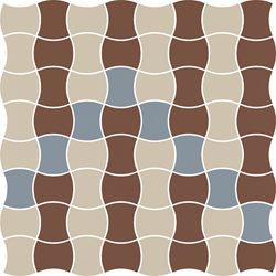 Paradyż Modernizm Bianco Mozaika Prasowana K.3,6X4,4 Mix B