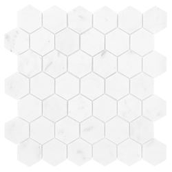 Dunin Black&White Carrara White Hexagon 48