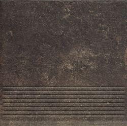 Paradyż Scandiano Brown Stopnica Prosta 30X30