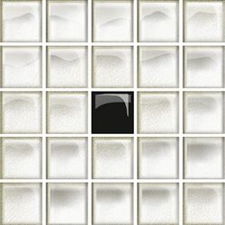 Opoczno Glass White/Black Mosaic A New OD660-116