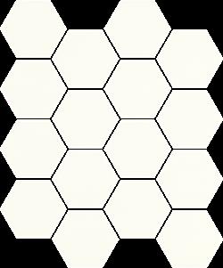 Paradyż Uniwersalna Mozaika Prasowana Bianco Paradyż Hexagon