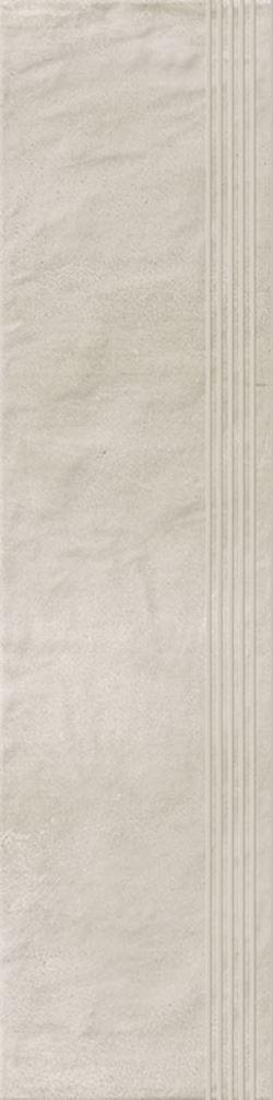 Paradyż Hybrid Stone Bianco Stopnica Prosta Nacinana