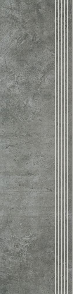 Paradyż Scratch Nero Stopnica Prosta Nacinana Półpoler