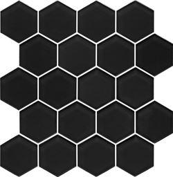 Paradyż Uniwersalna Mozaika Szklana Nero Heksagon