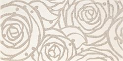 Cersanit Modena white inserto rose WD242-015