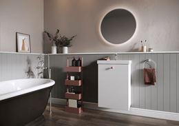 Retro łazienka w stonowanych kolorach