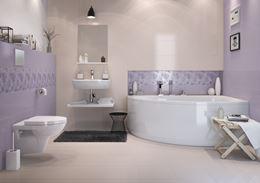 Nowoczesna łazienka w pastelowych kolorach